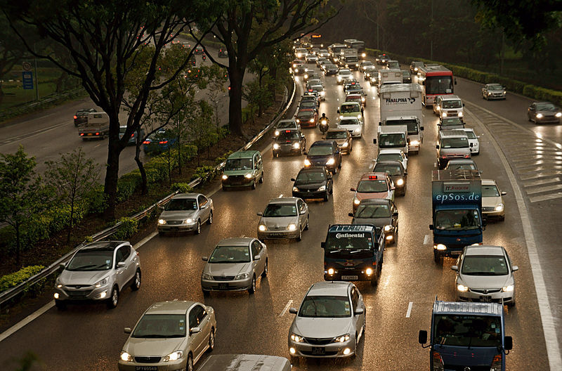 Why do traffic jams occur?